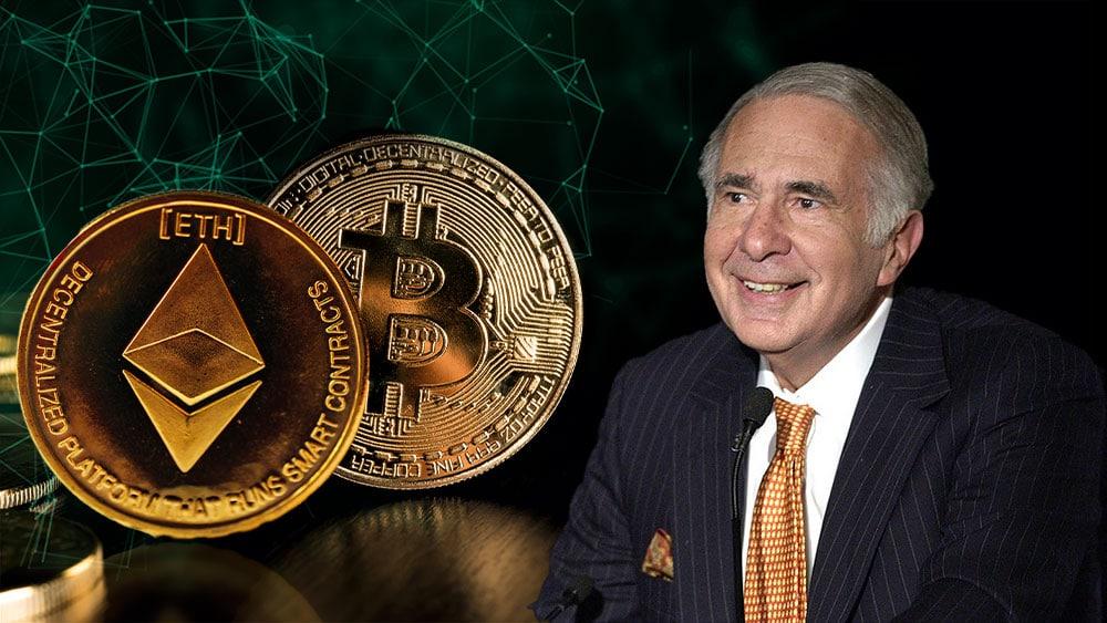 El multimillonario Carl Icahn planea invertir USD 1.000 millones en bitcoin y ether
