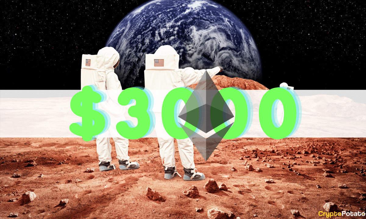 Ethereum Alcanza Los 3000 USD Por Primera Vez (Y Sigue Subiendo)