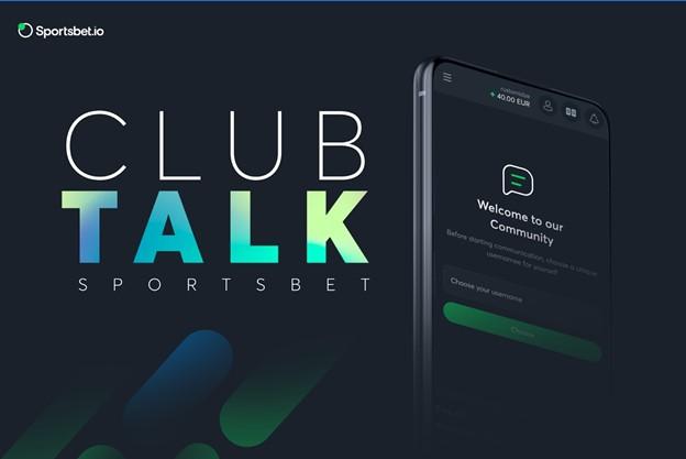 Sportsbet.io continúa el crecimiento de la comunidad con la nueva función Club Talk