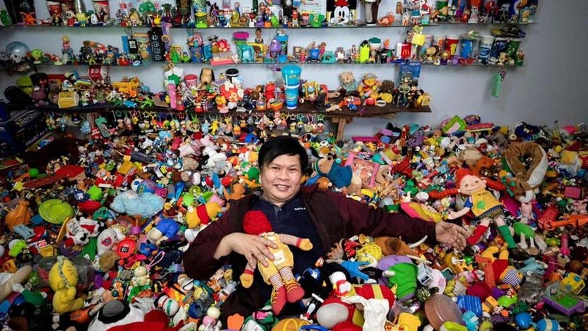 La colección más grande de juguetes de comida rápida