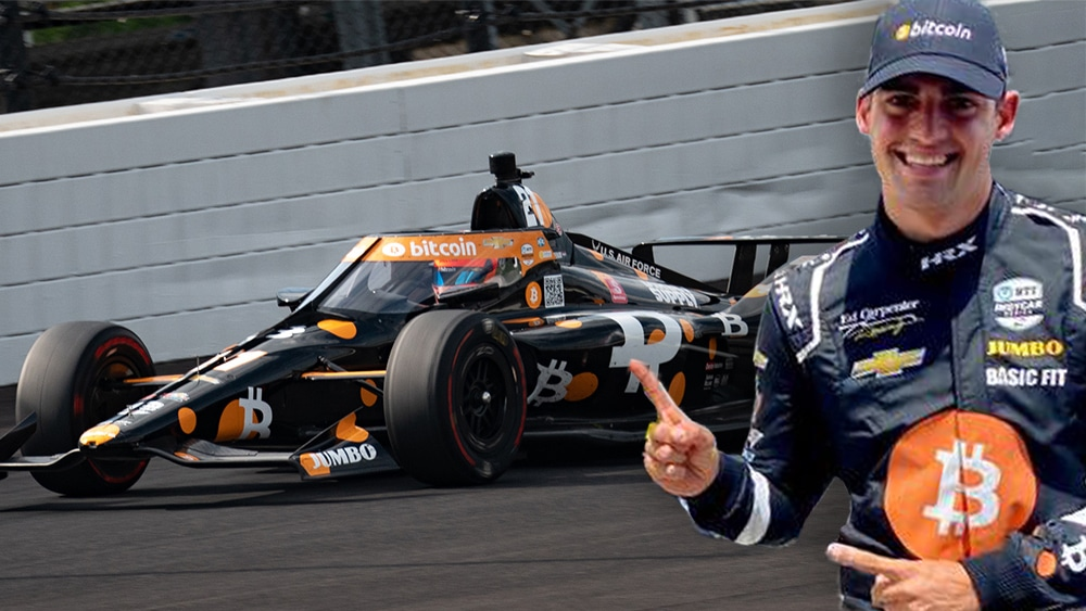 «Bitcoin Car» queda en el top 10 de la carrera Indy 500 de Indianápolis