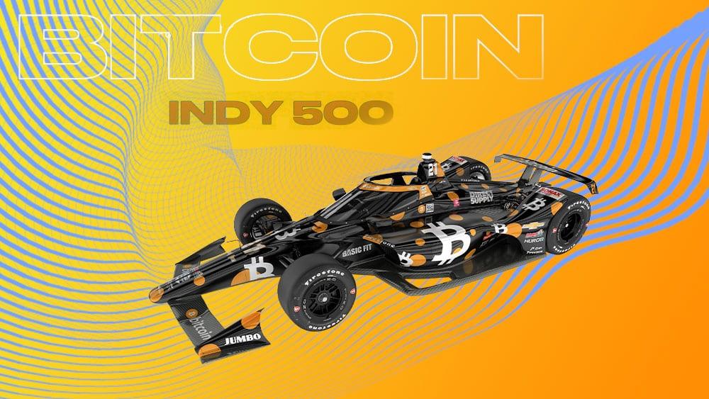 Bitcoin correrá en la prestigiosa Indy 500 por la libertad financiera
