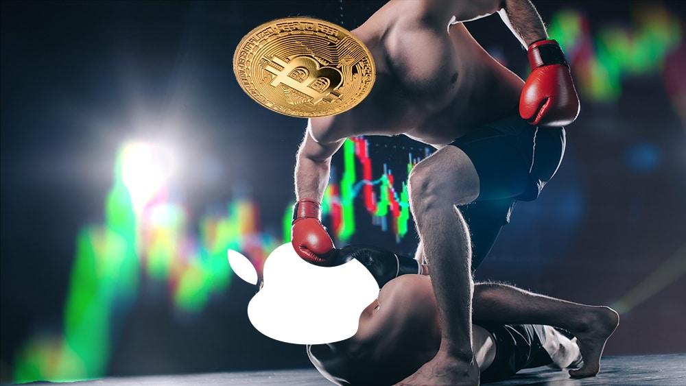 Volumen de trading de bitcoin fue 7 veces mayor que el de Apple en abril