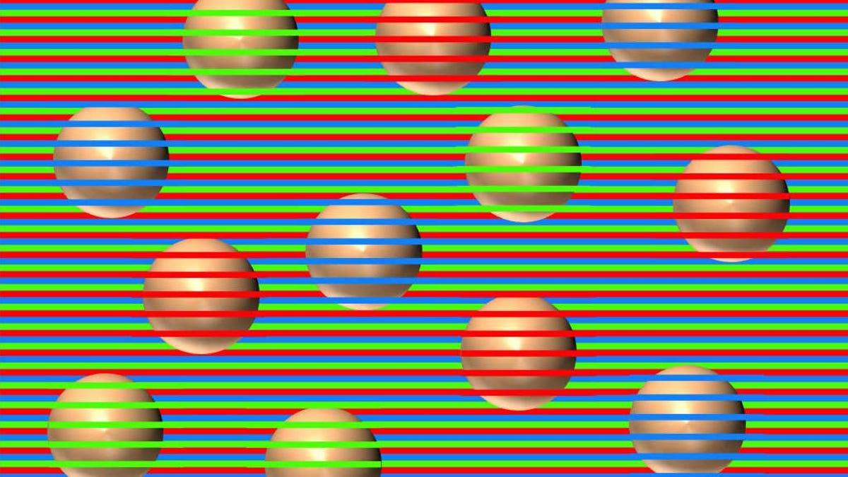 Da igual cuántas veces lo veas, estas bolas son del mismo color