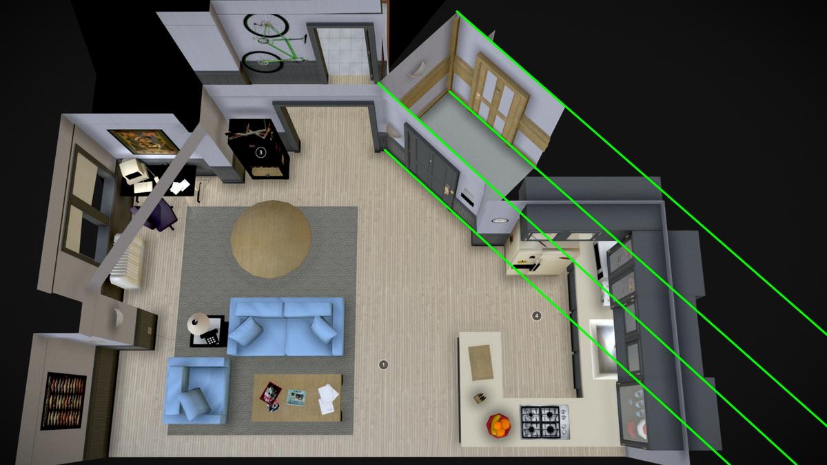 El apartamento de Seinfeld es físicamente imposible, como demuestra esta imagen