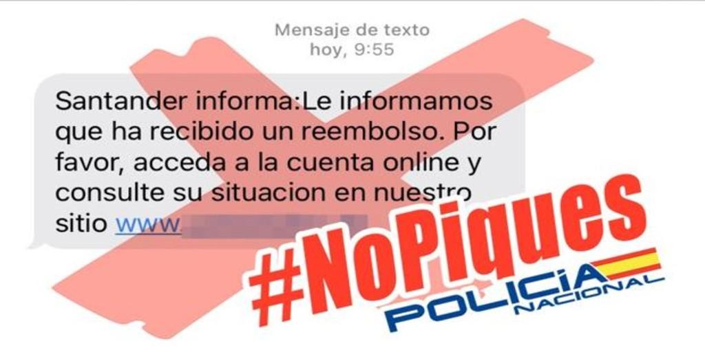 Policía Nacional alerta sobre una peligrosa estafa para robar dinero a clientes del Banco Santander