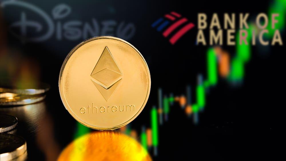Ethereum vale más que Bank of America y Disney tras superar los USD 3.000 por ether