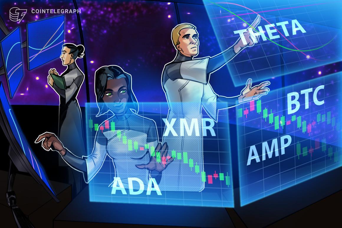 Las 5 principales criptomonedas a observar esta semana: BTC, ADA, THETA, XMR, AMP