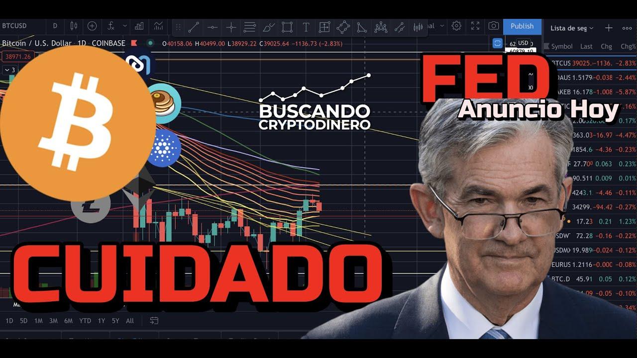 🚨 **CUIDADO** Hoy anuncio de la FED ➤ Puede afectar a Crypto !!! + Rifa y Alcoins!!