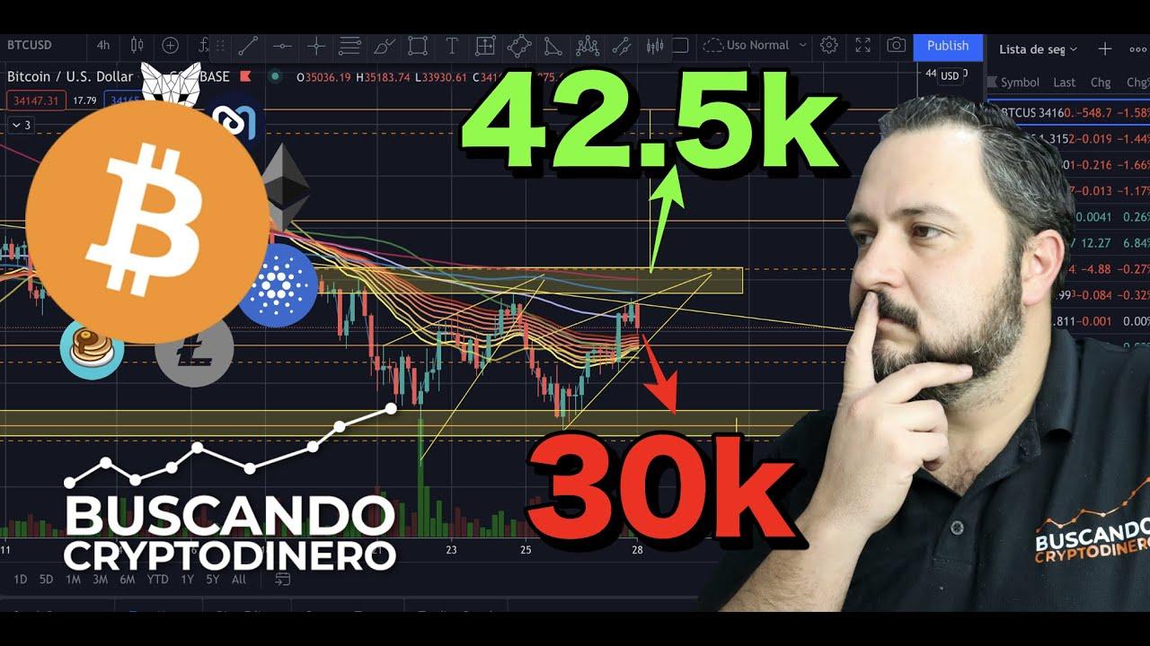 😳 Bitcoin ➤ 42.5k o 30k de nuevo? + 9 monedas y Rifa de Litecoin !!
