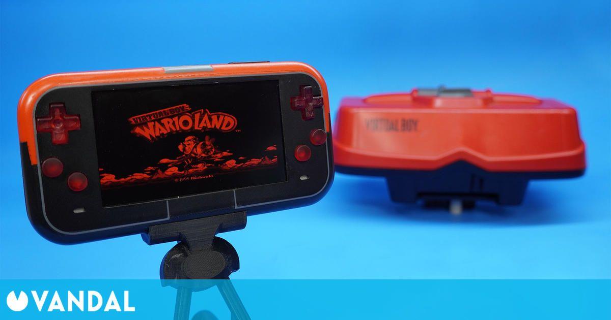 Fan de Nintendo construye una Virtual Boy portátil con botones transparentes