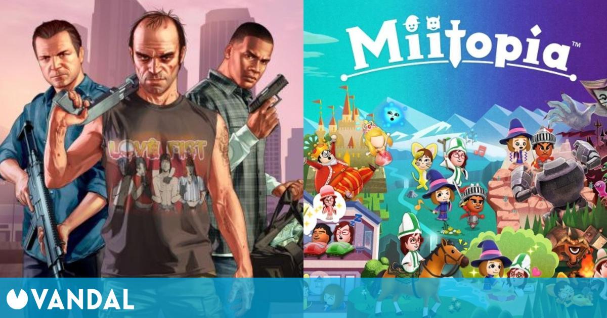 GTA 5 y Miitopia fueron los juegos más vendidos en España del 10 al 23 de mayo