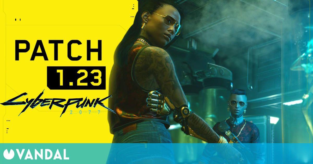 Cyberpunk 2077 se actualiza a la versión 1.23 con nuevas mejoras y soluciones a bugs