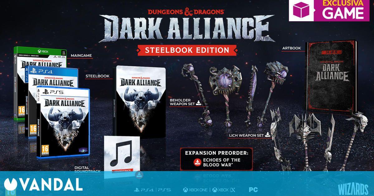 GAME España detalla la exclusiva Steelbook Edition de Dungeons & Dragons: Dark Alliance