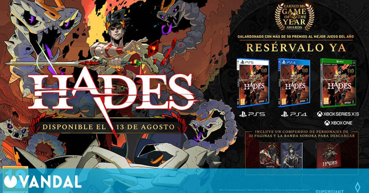 Hades desvela precio, detalles y extras de su edición física en PlayStation y Xbox
