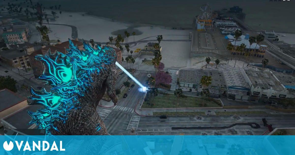 Un divertido mod de GTA 5 nos permitrá controlar a Godzilla y arrasar Los Santos