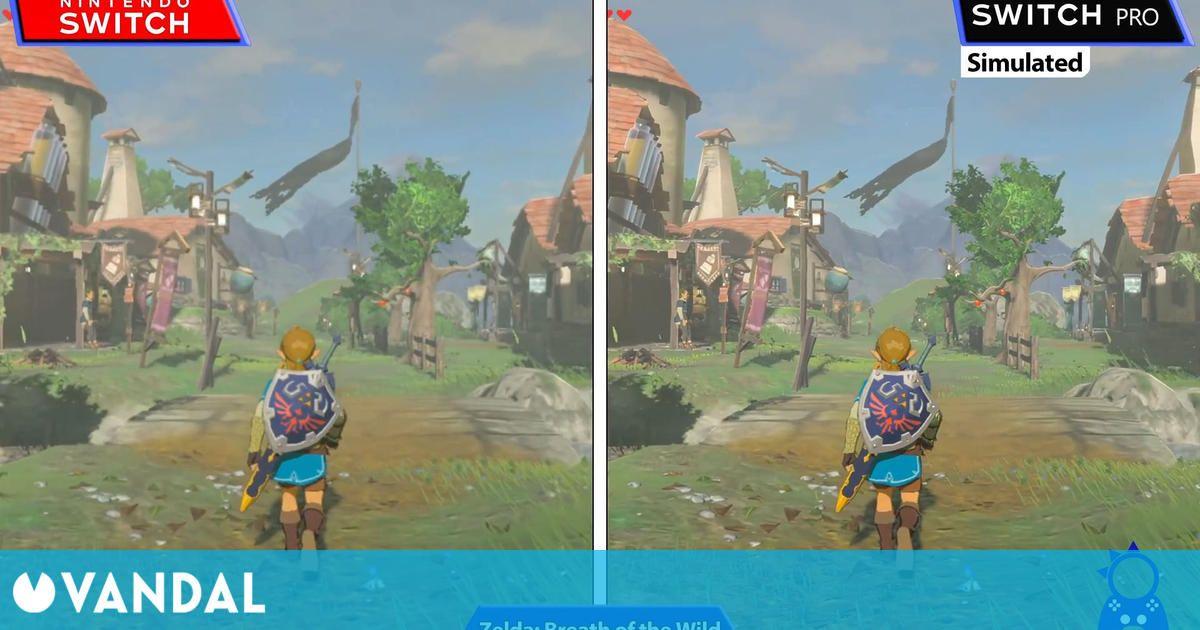 Así se verían los juegos en Nintendo Switch Pro gracias a una nueva comparativa simulada