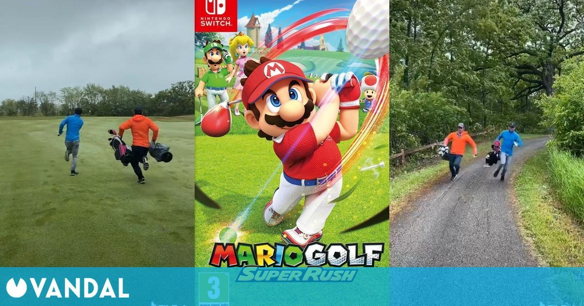 Recrean en un divertido sketch el modo Golf Rápido de Mario Golf: Super Rush