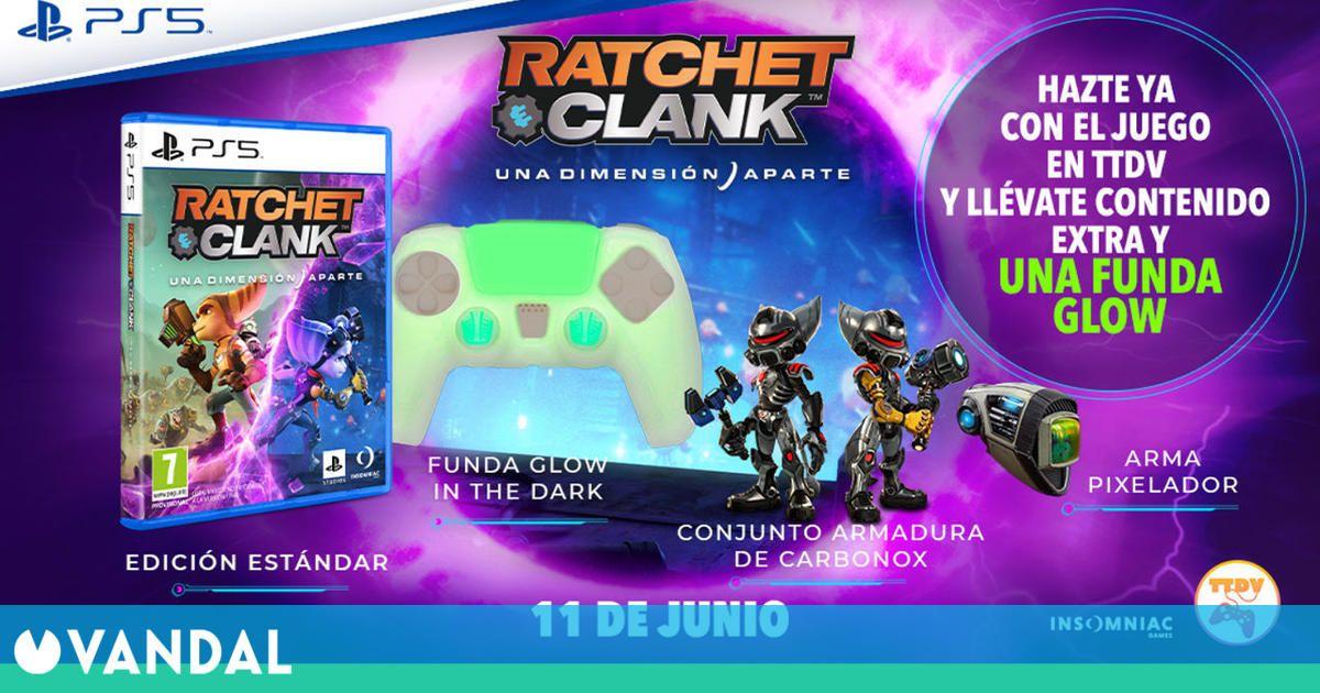 Ratchet and Clank: Una Dimensión Aparte disponible en TTDV con contenido extra y funda glow
