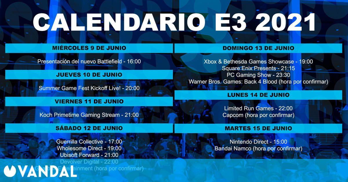 E3 2021: Calendario y horarios con todas las conferencias y eventos