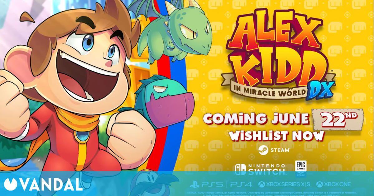 Alex Kidd in Miracle World DX adelanta su lanzamiento y muestra un nuevo tráiler