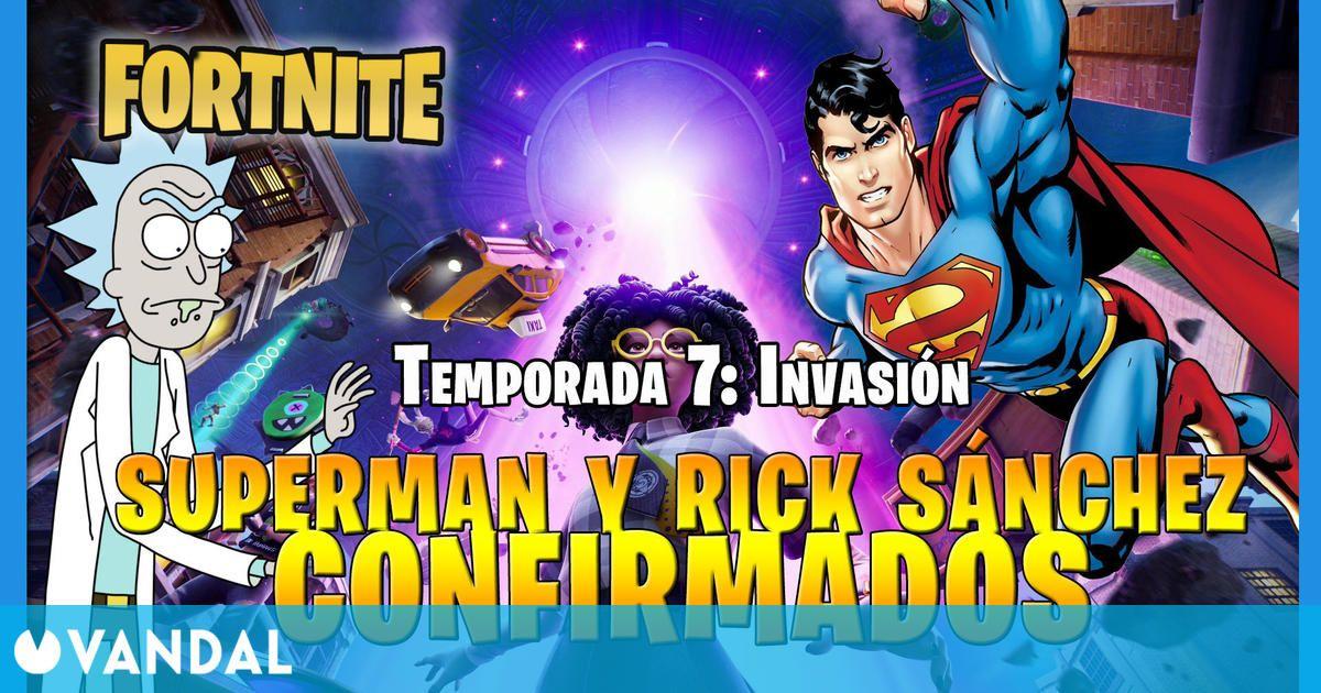 Fortnite Temporada 7:Superman y Rick Sánchez llegan al juego