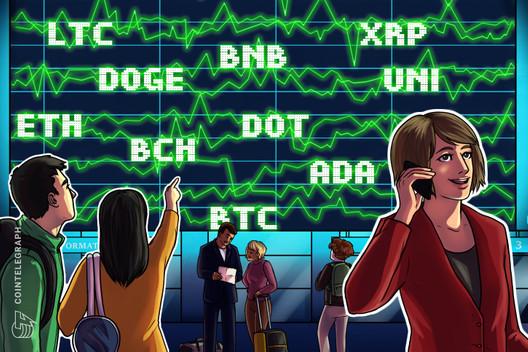Análisis de precios del 14 de junio: BTC, ETH, BNB, ADA, DOGE, XRP, DOT, UNI, LTC, BCH