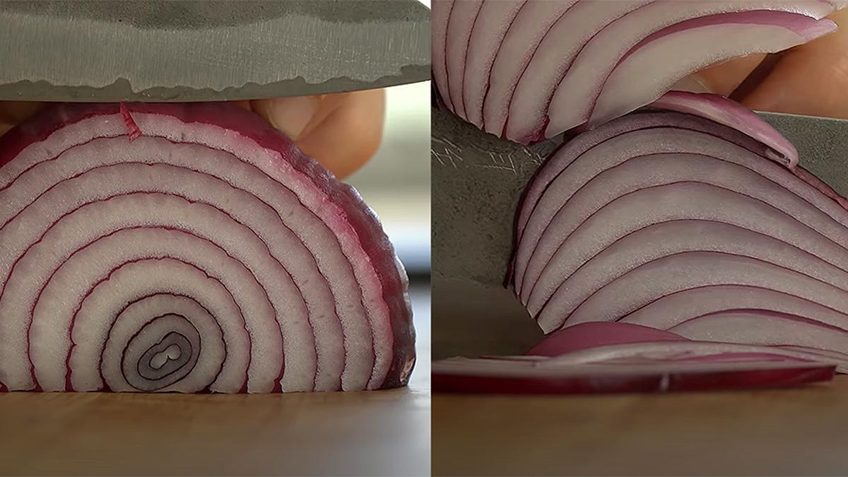 La brutal diferencia entre cortar cebolla radial o longitudinal