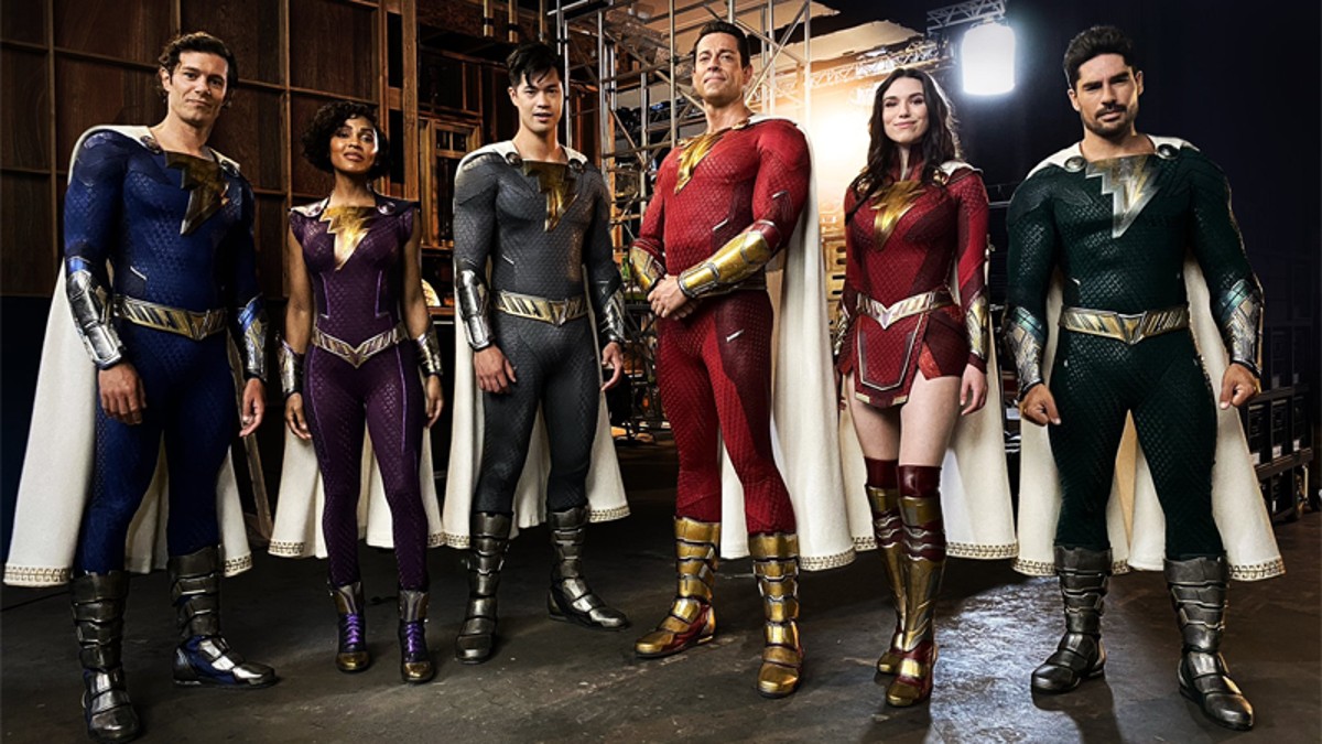 La nueva película de Shazam revela los nuevos trajes de sus héroes