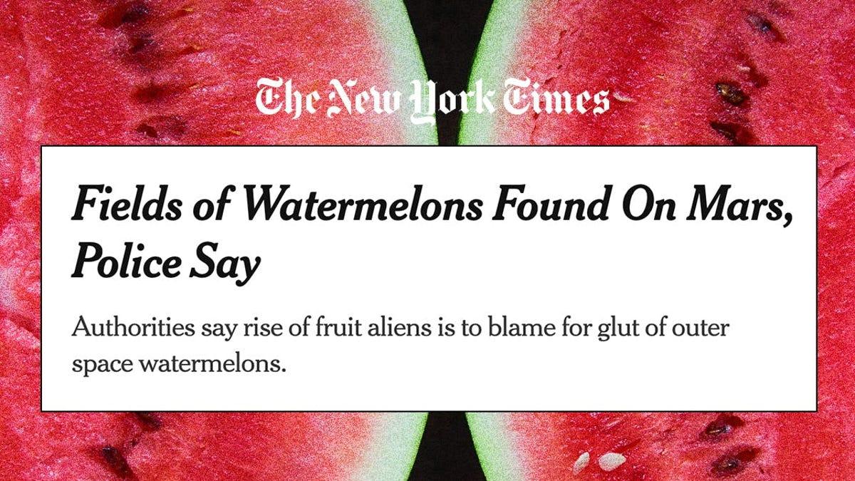 El New York Times anuncia el descubrimiento de sandías en Marte