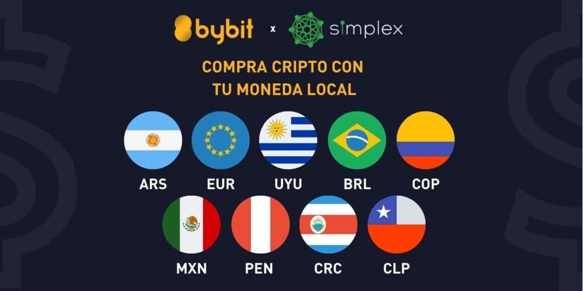 Compra bitcoin y otros cripto en Bybit usando Simplex y gana un bono de hasta 30 USDT