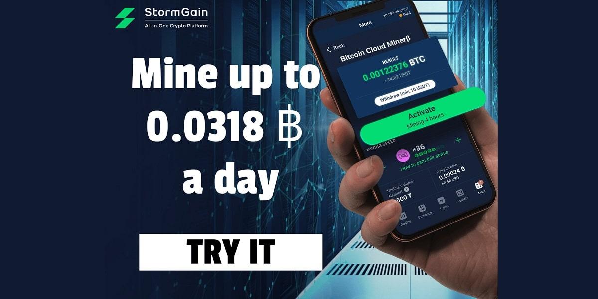 StormGain facilita la minería criptográfica mediante teléfonos inteligentes