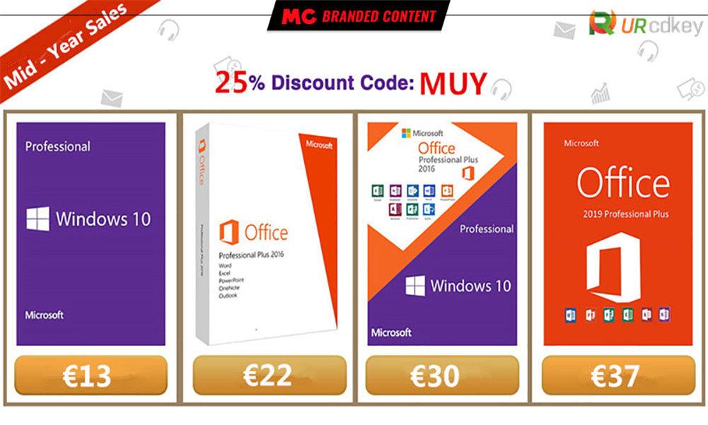 licencias de Windows 10 Pro desde 13 euros