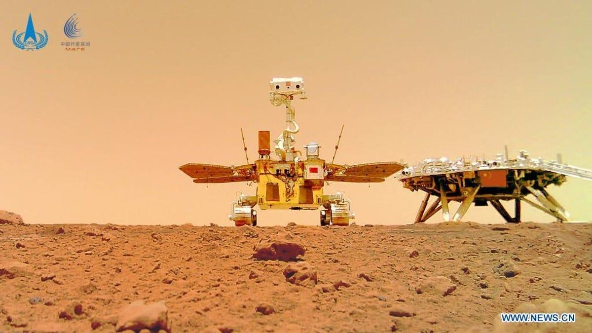 El rover Zhurong comparte nuevos vídeos de la superficie de Marte