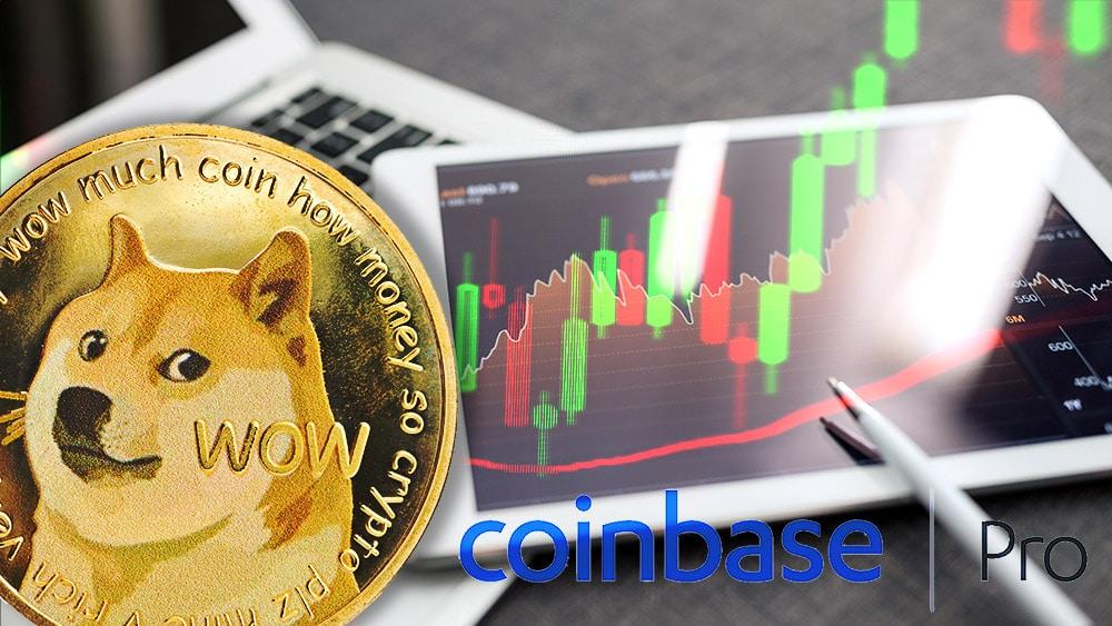 Precio de Dogecoin aumenta 35% antes de comercializarse en Coinbase Pro