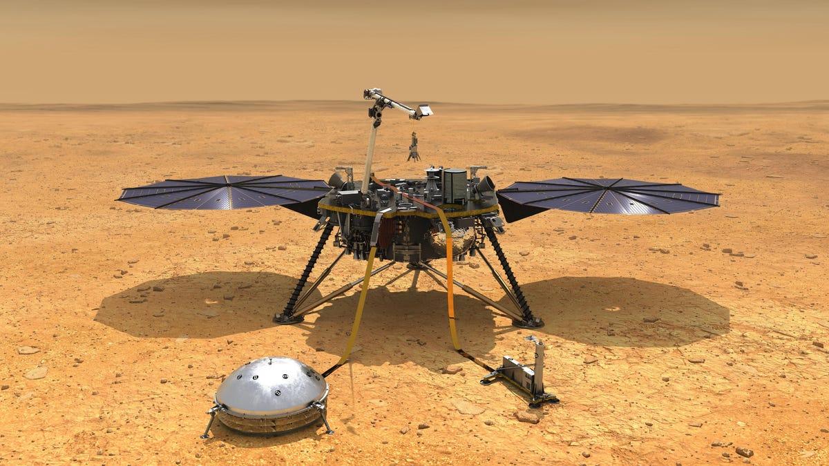 La NASA prueba una idea ingeniosa para limpiar el polvo de los paneles solares de InSight