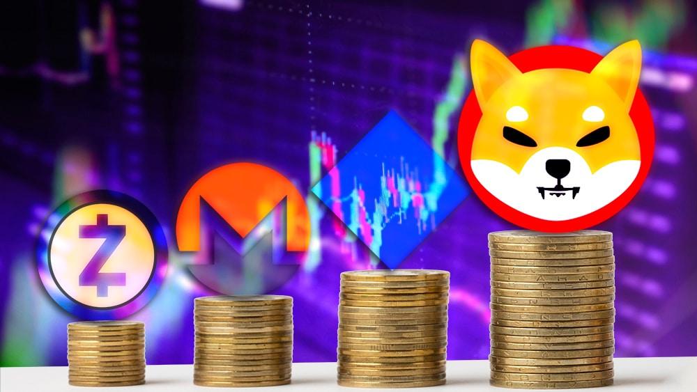 Shiba Inu y waves suben de precio mientras el mercado se mantiene en caída