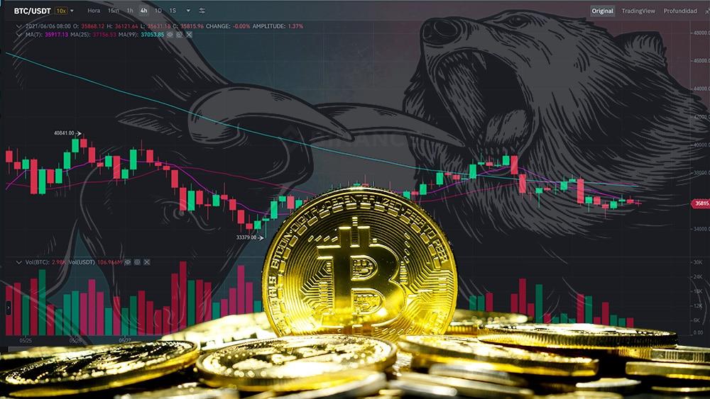 precio de bitcoin sigue lateral en plena «batalla» entre osos y toros