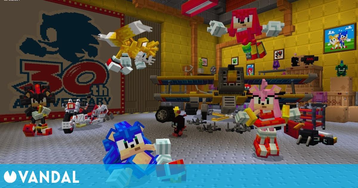 Minecraft: Ya está disponible el DLC de Sonic en el mundo de Mojang