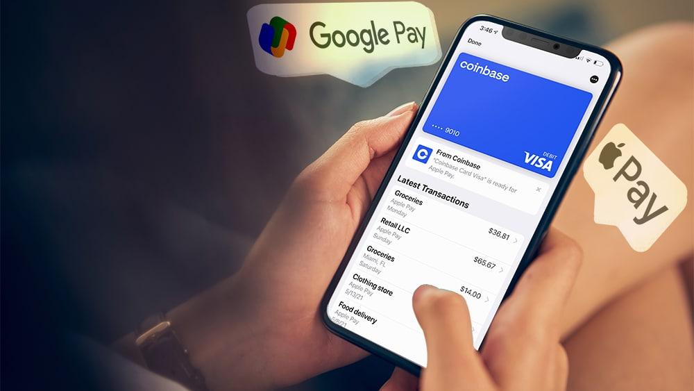 Tarjeta Visa de Coinbase ahora podrá utilizarse con Google Pay y Apple Pay