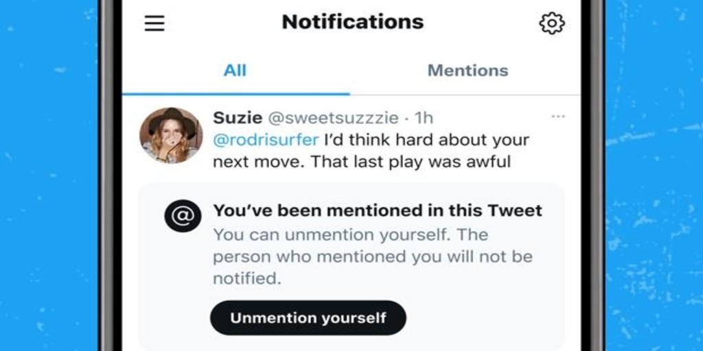 Twitter trabaja en una función para que puedas desetiquetarte cuando te mencionen en un tuit