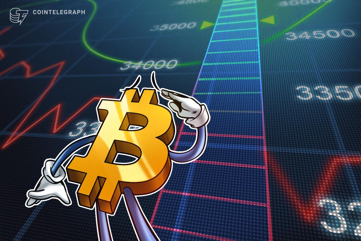El precio de Bitcoin alcanza los USD 34,000 mientras un trader pronostica un nuevo enfrentamiento de resistencia el fin de semana
