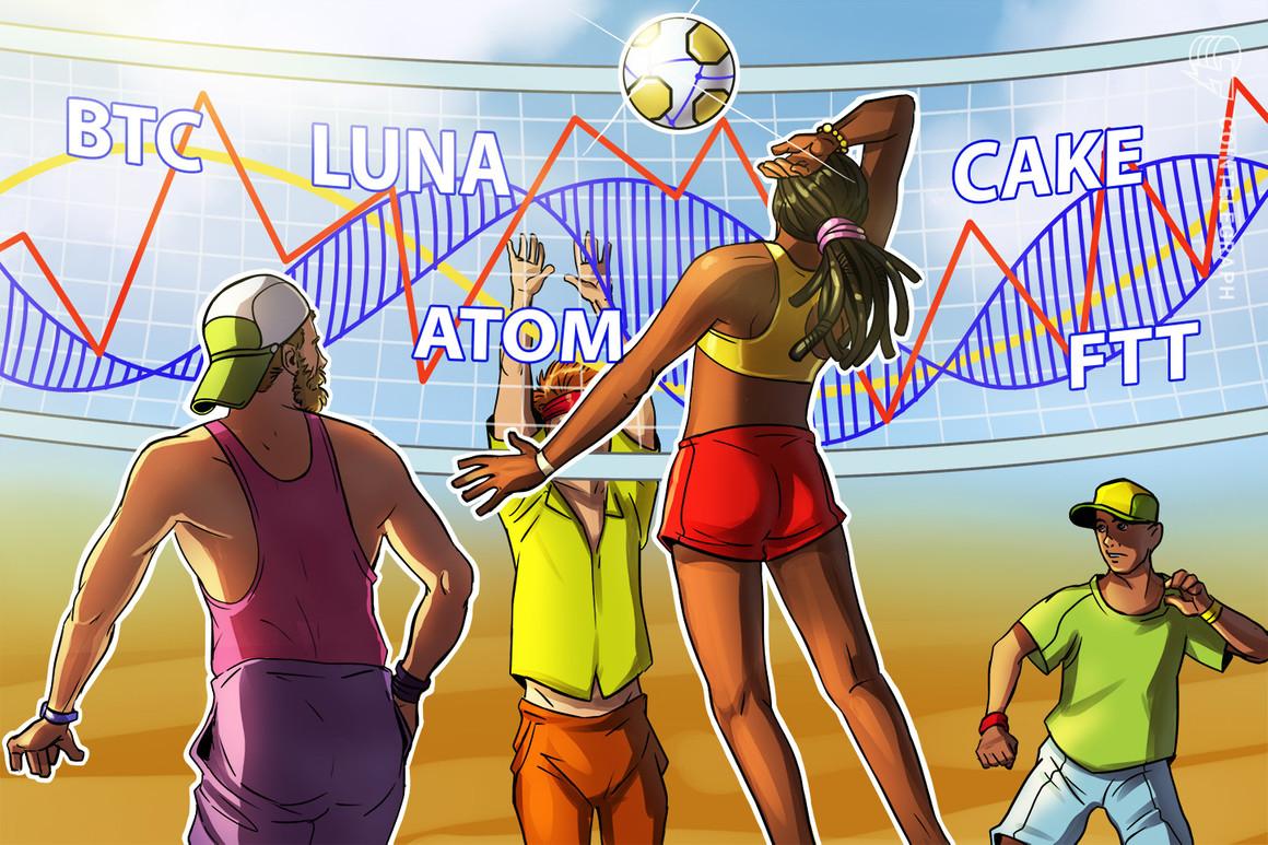 Las 5 principales criptomonedas a observar esta semana: BTC, LUNA, ATOM, CAKE, FTT