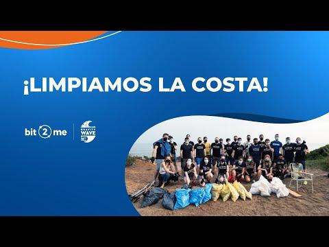 ♻️ Bit2Me recoge residuos en la costa del Mar Mediterráneo con Gravity Wave