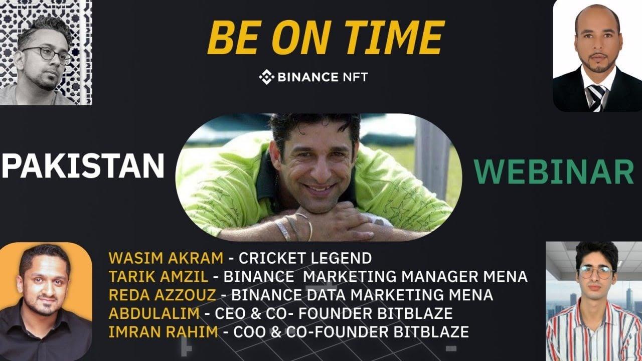 Binance AMA Pakistan : Learning everything about NFTs and Sports with Wasim Akram & BitBlaze