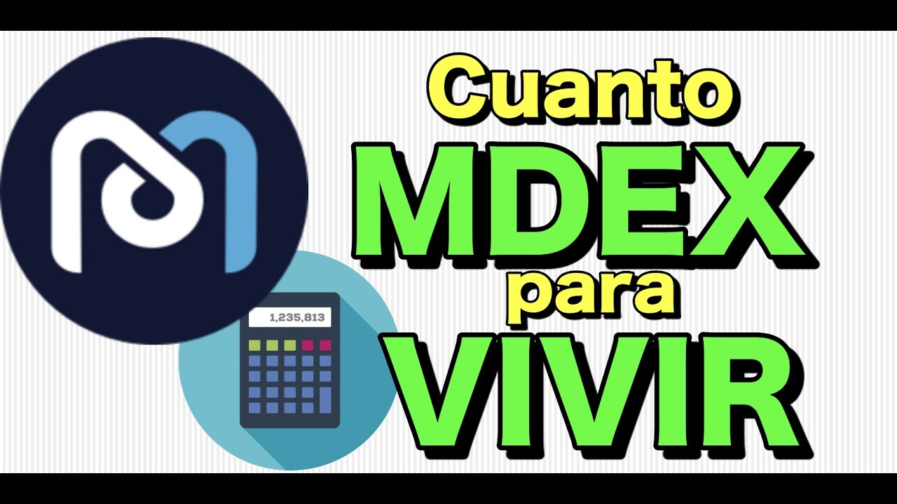 🤑 Cuánto MDEX necesito para VIVIR de mi inversión?? **Super Calculadora + reinversión perfecta**