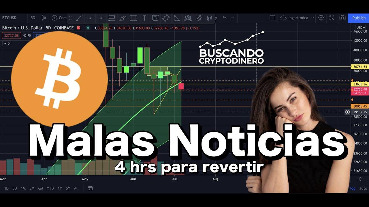 Bitcoin ➤ Malas Noticias… nos quedan 4 hrs para revertir esto !!!