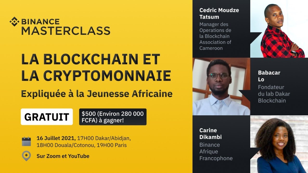 Binance Afrique Francophone- Masterclass