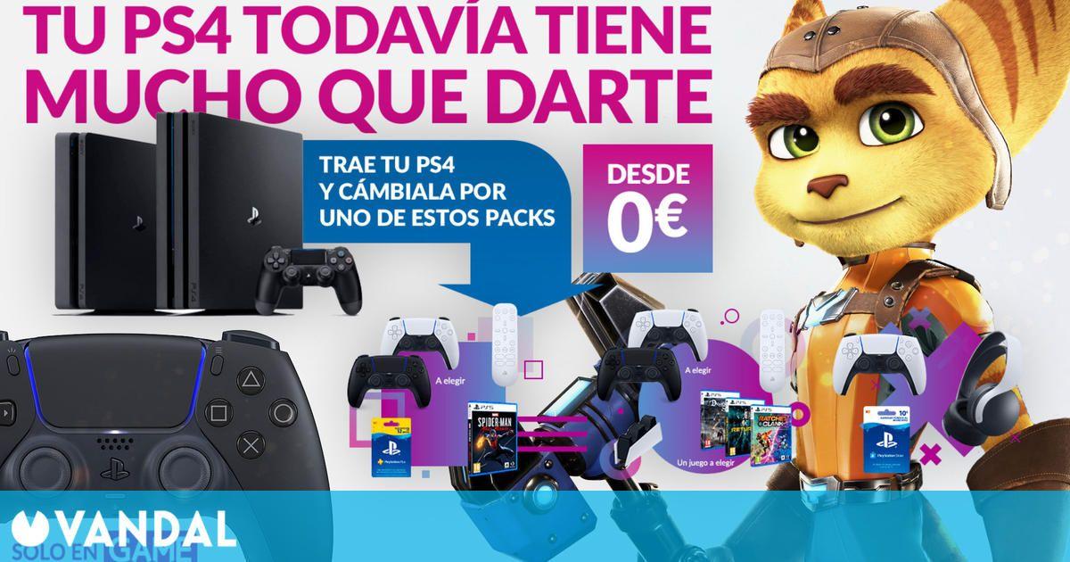 Lleva tu PS4 a GAME y consigue nuevos packs de juegos, accesorios y suscripciones para PS5 (09/07/2021)