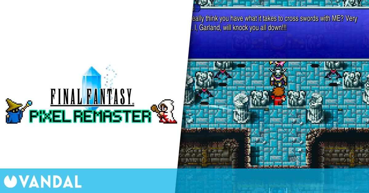 Final Fantasy Pixel Remaster: Los fans critican la fuente de texto elegida